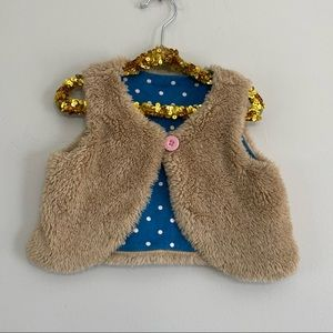 Baby Boden Jersey Lined Shaggy Vest
